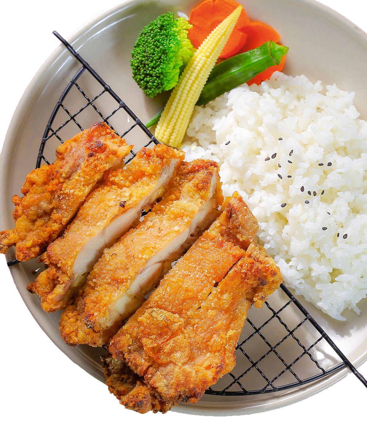 食譜:炸雞排飯(1)