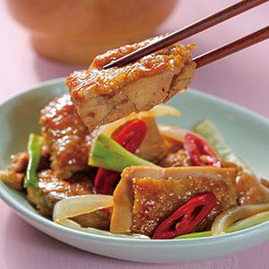 蔥燒雞排飯