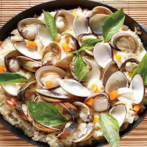 蛤蜊起司燉飯