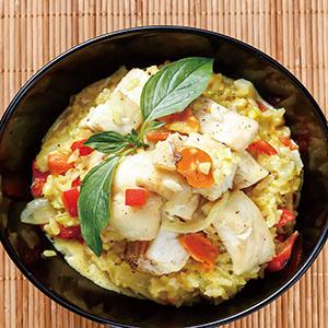 薑黃魚片燉飯