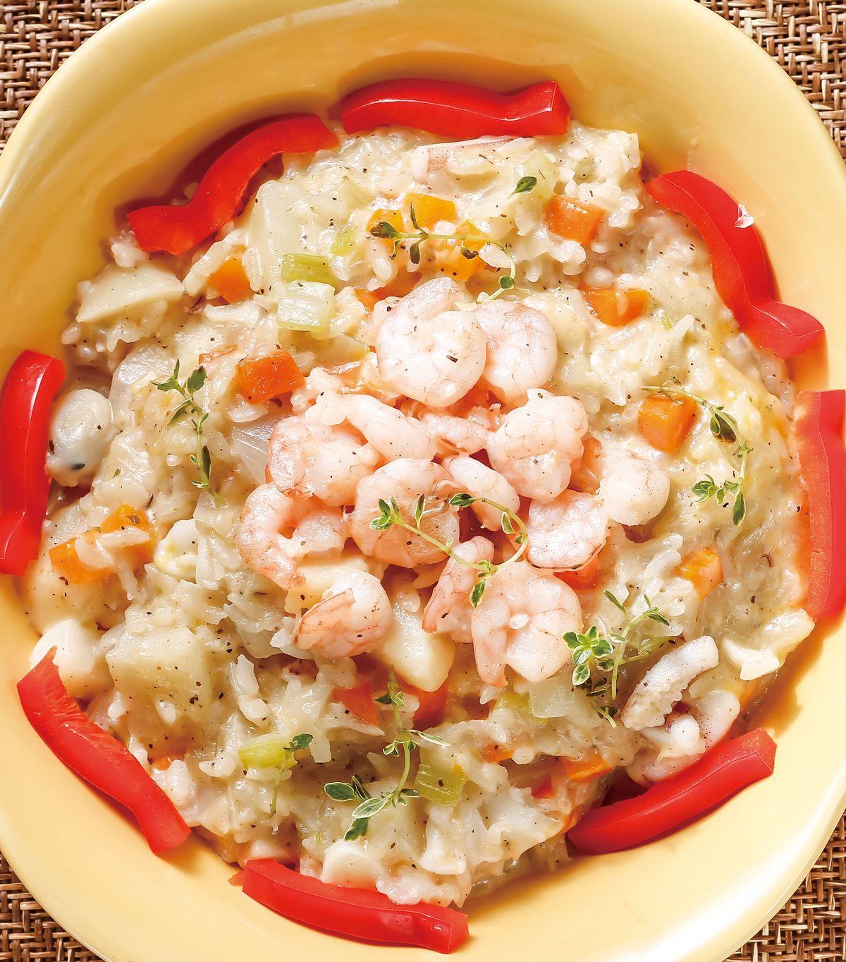 食譜:鮮蔬蝦仁燉飯(電鍋)