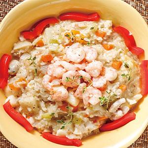 鮮蔬蝦仁燉飯(電鍋)