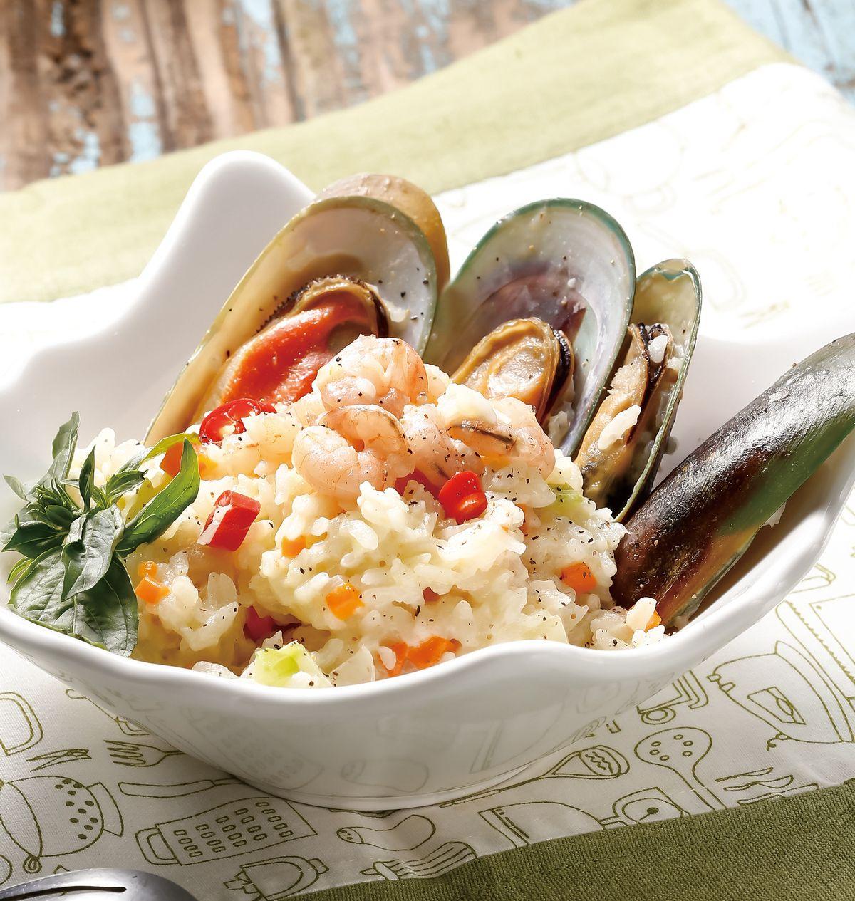 食譜:塔香海鮮燉飯(電鍋)