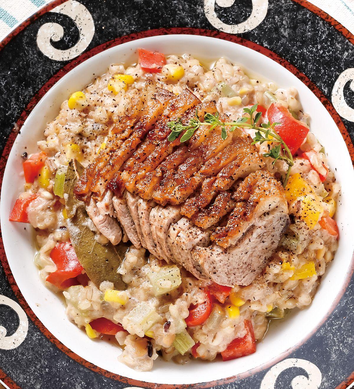 食譜:糙米燻鴨胸燉飯(電子鍋)