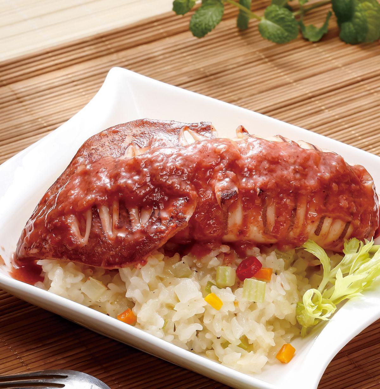 食譜:紅麴透抽燉飯(電子鍋)