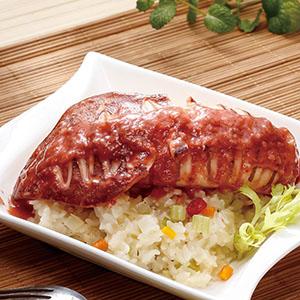 紅麴透抽燉飯(電子鍋)