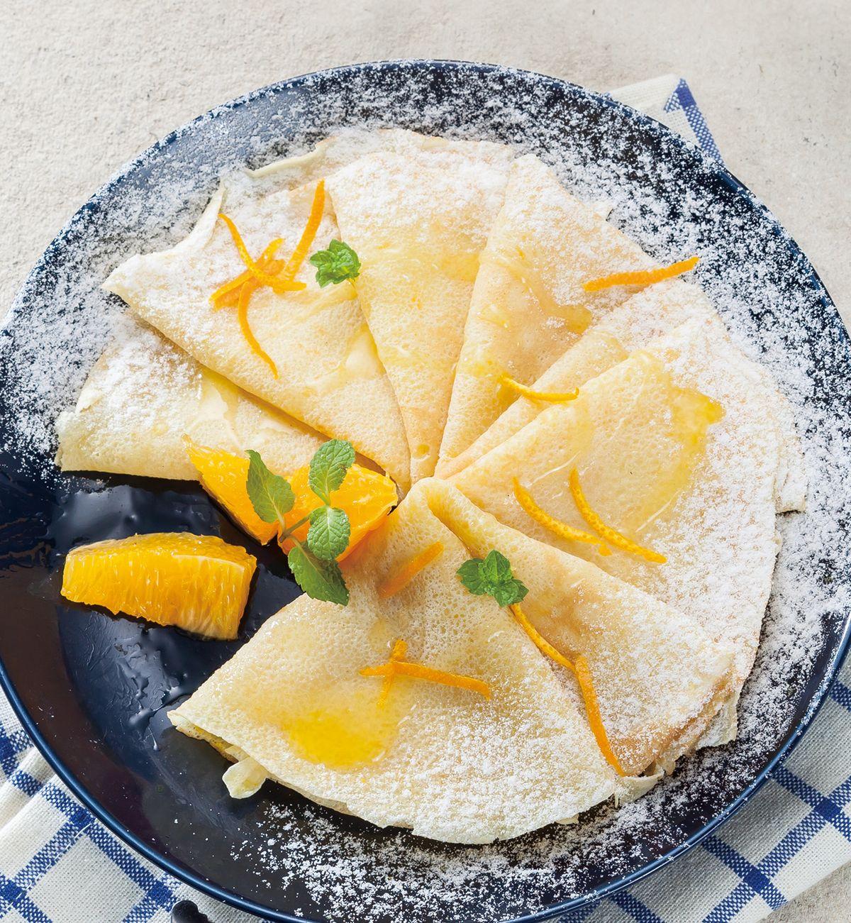 食譜:橙汁法式薄餅