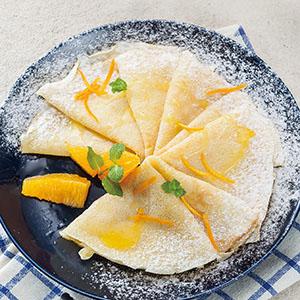 橙汁法式薄餅