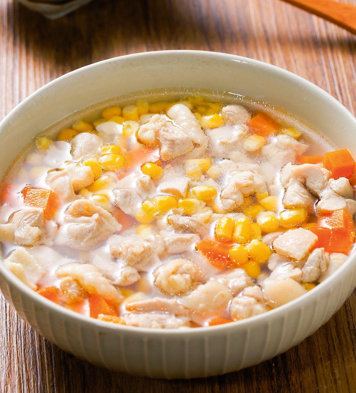 食譜:玉米雞丁湯