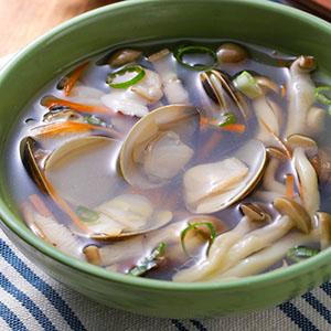 鮮菇蛤蜊湯
