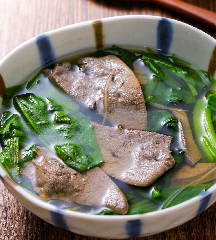食譜:菠菜豬肝湯(2)