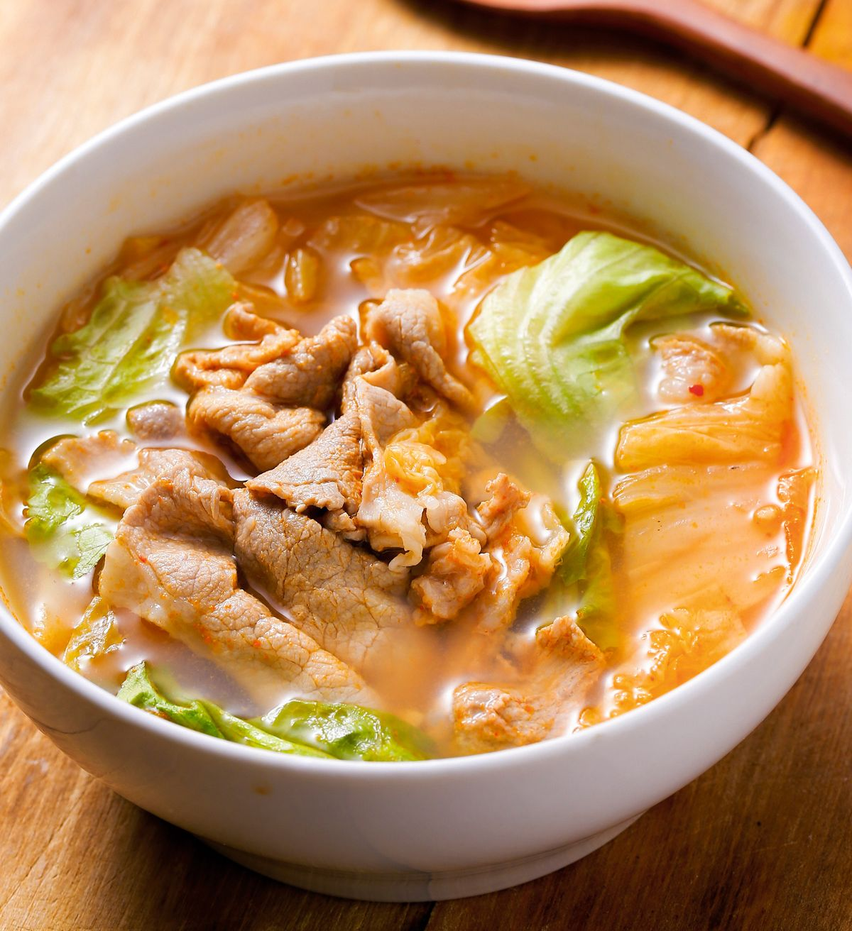 食譜:泡菜肉片湯