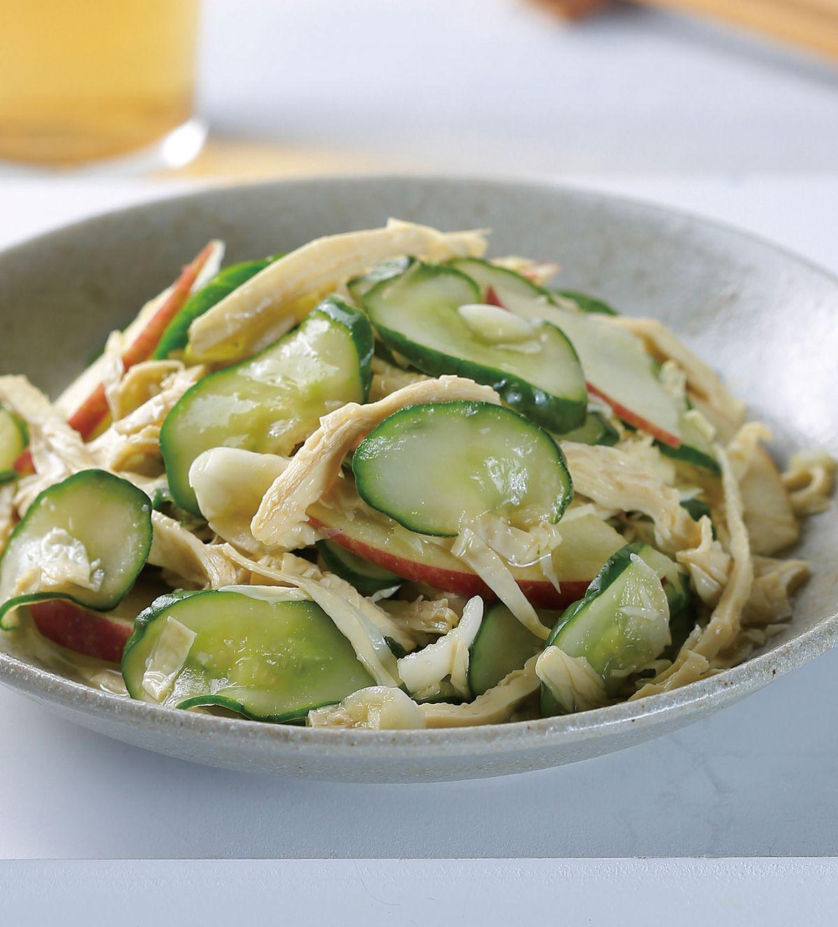 食譜:小黃瓜拌豆皮