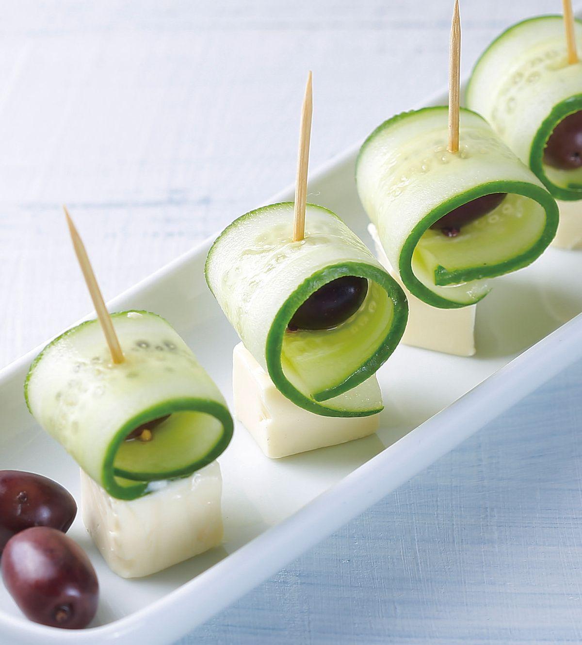 食譜:小黃瓜起司丁串