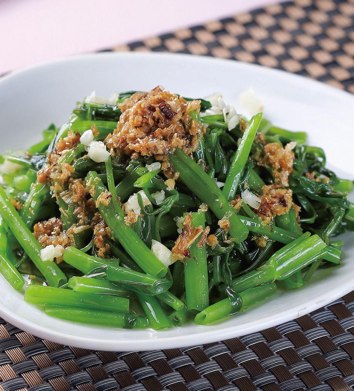 食譜:蔥油空心菜