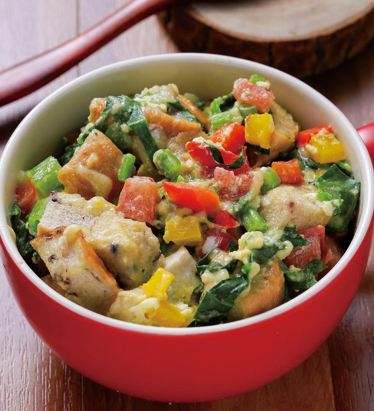 食譜:蔬菜雞蛋貝果