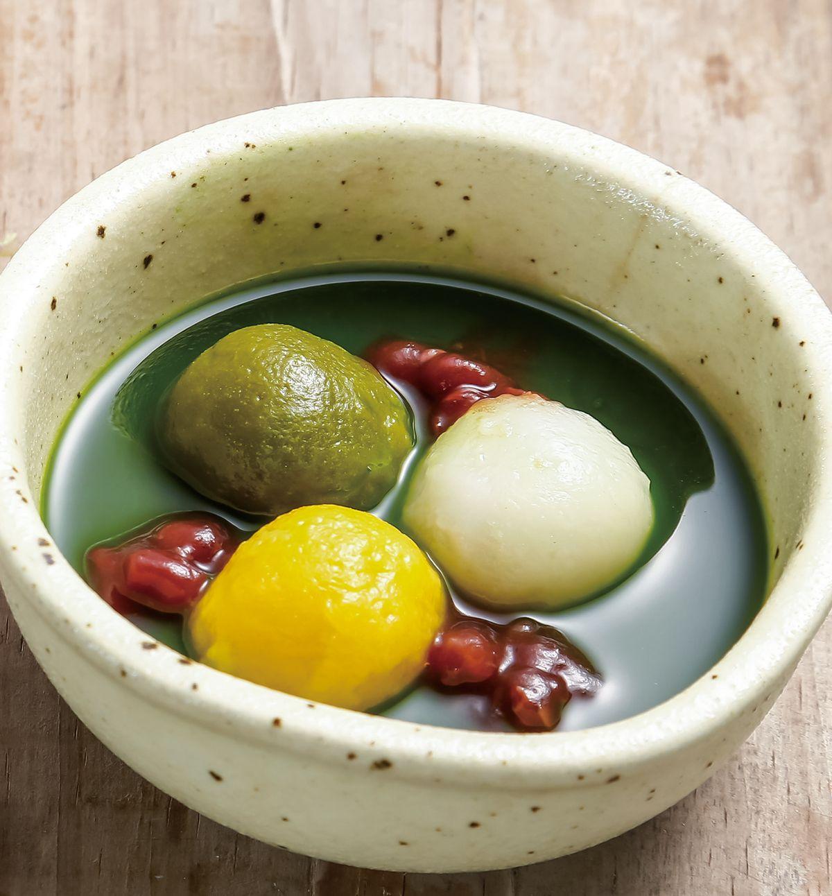 食譜:抹茶白玉紅豆湯