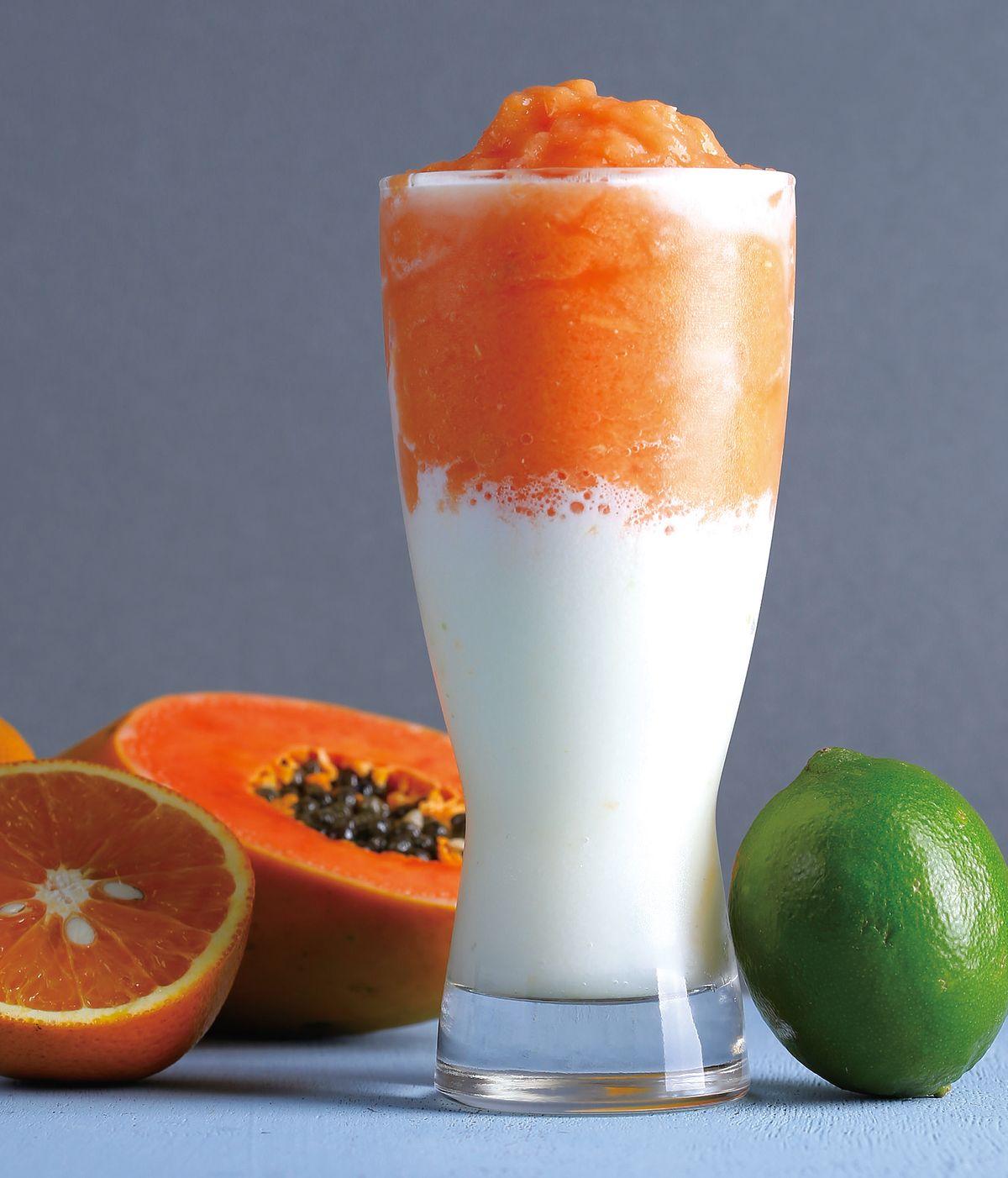 食譜:木瓜柳橙檸檬果昔