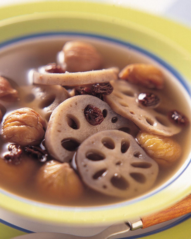 食譜:栗子蓮藕湯