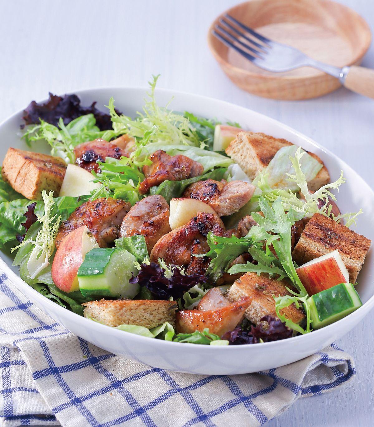 食譜:烤麵包雞肉輕食沙拉