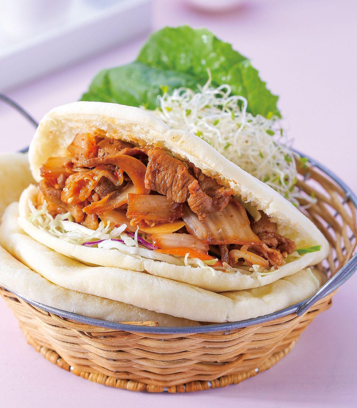 食譜:口袋餅燒肉沙拉