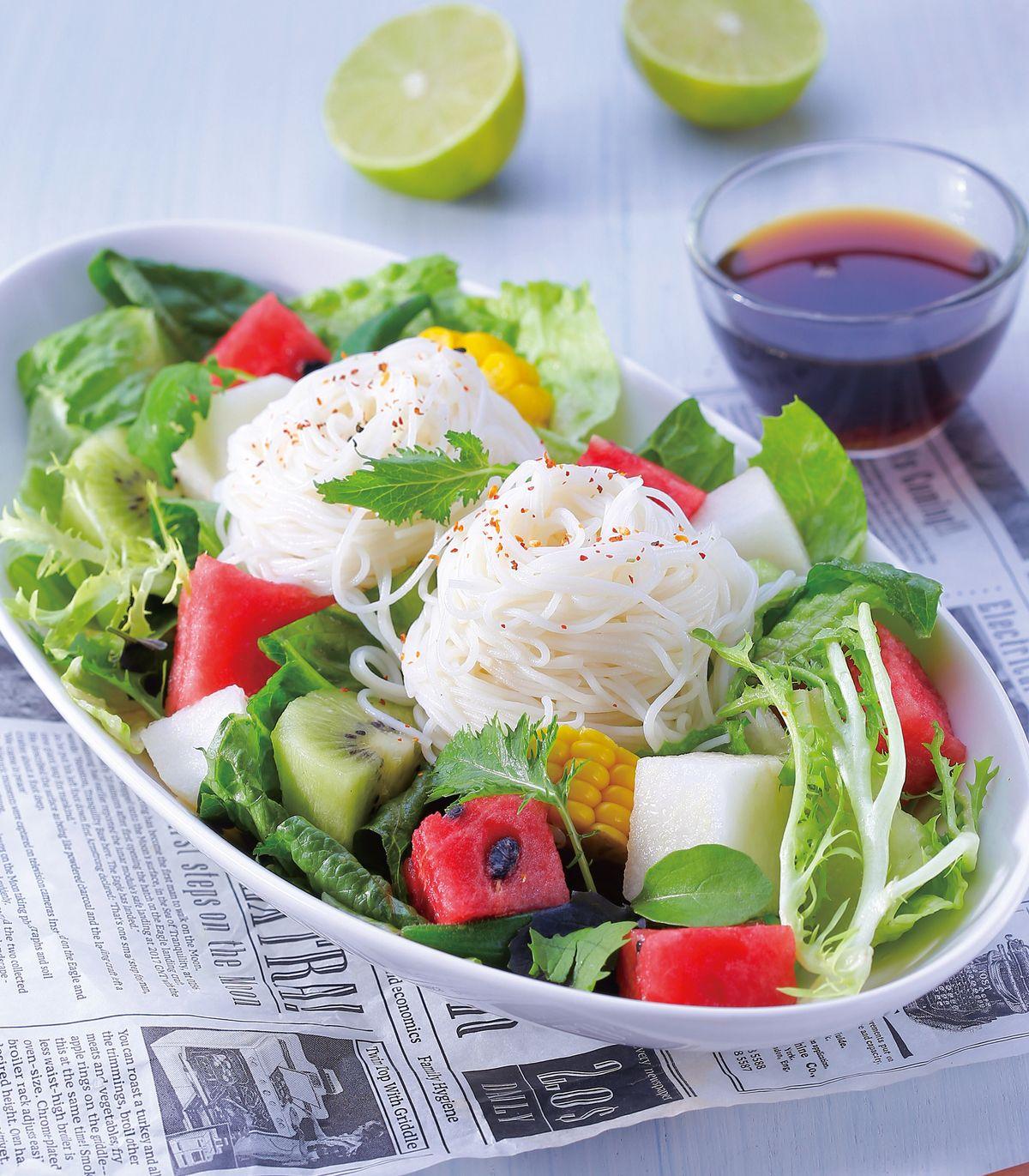 食譜:爽口蔬果涼麵沙拉