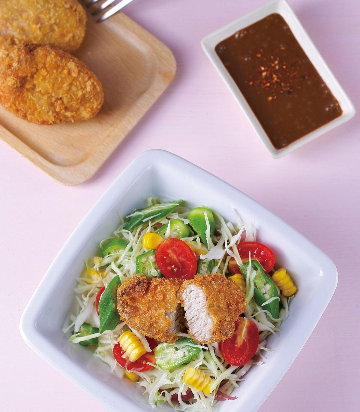 食譜:豬排沙拉(1)