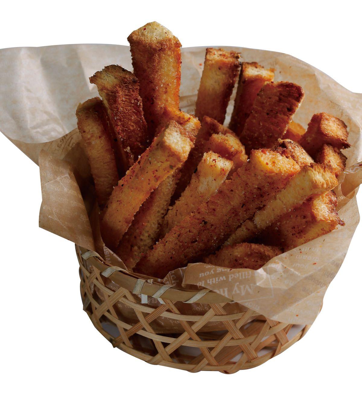 食譜:七味奶油土司薯條