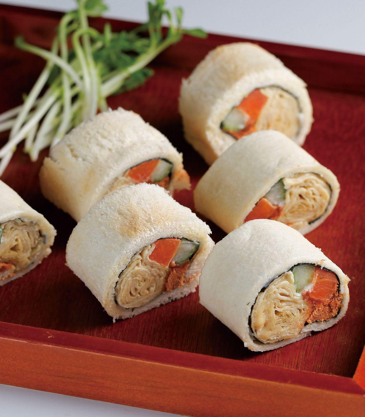 食譜:土司壽司卷