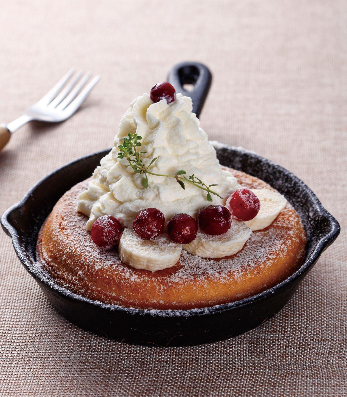 食譜:鮮奶油香蕉厚鬆餅