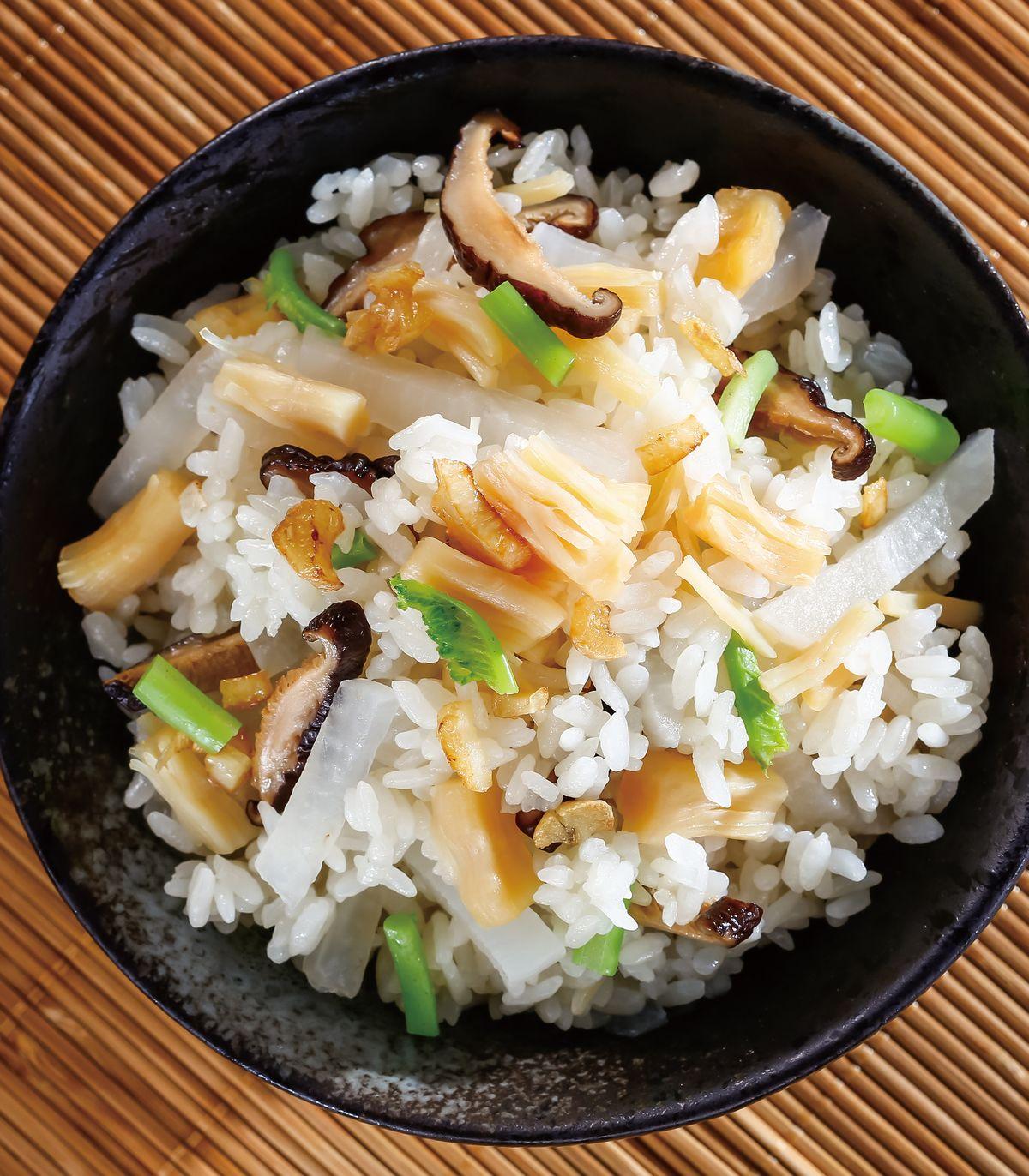 食譜:干貝蘿蔔炊飯