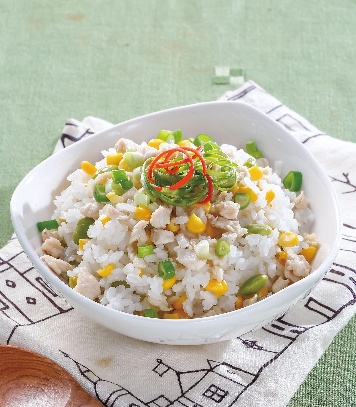 食譜:玉米毛豆雞丁炊飯