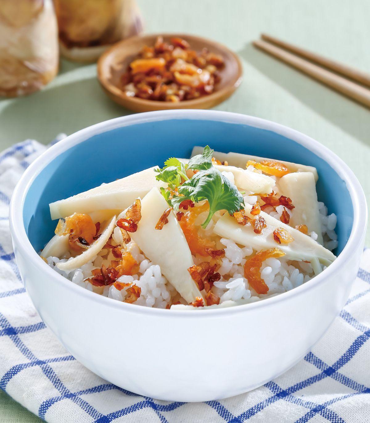 食譜:蝦米竹筍炊飯