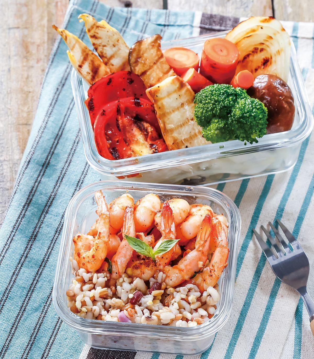 食譜:橄欖油鮮蝦便當
