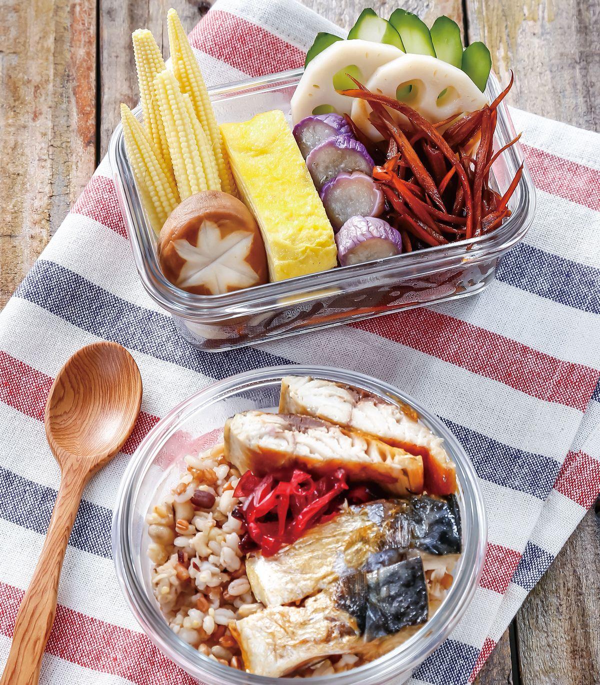 食譜:日式和風鯖魚便當