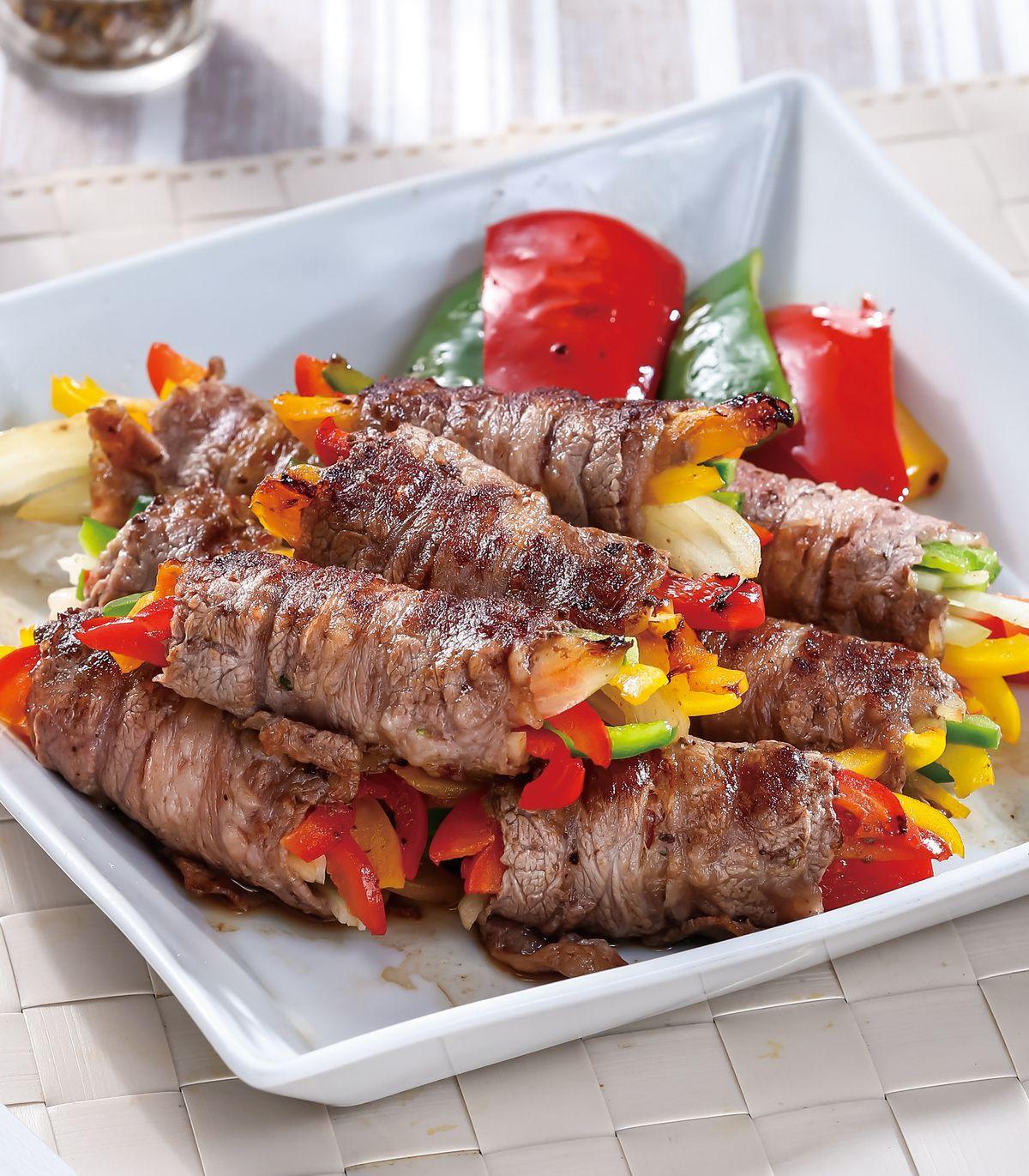食譜:起司時蔬牛肉卷