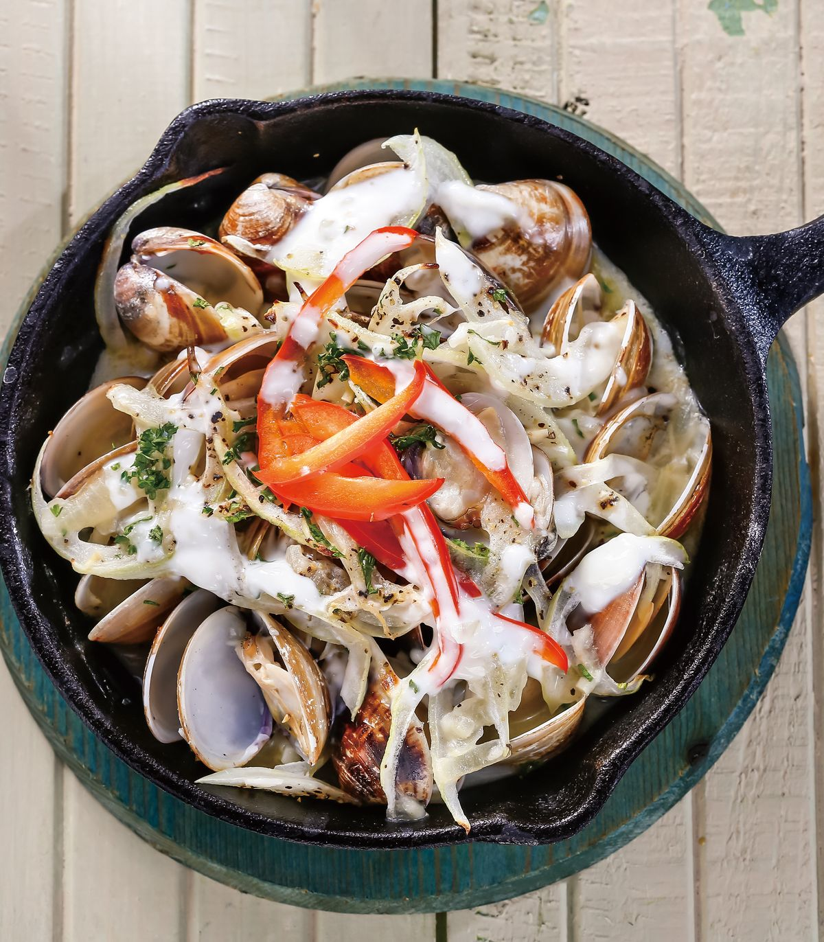 食譜:奶油烤蛤蜊