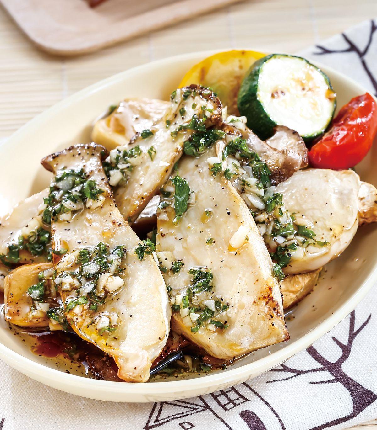 食譜:油醋醬烤杏鮑菇