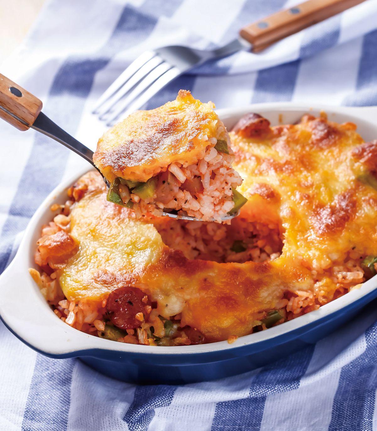 食譜:茄醬香腸起司焗飯