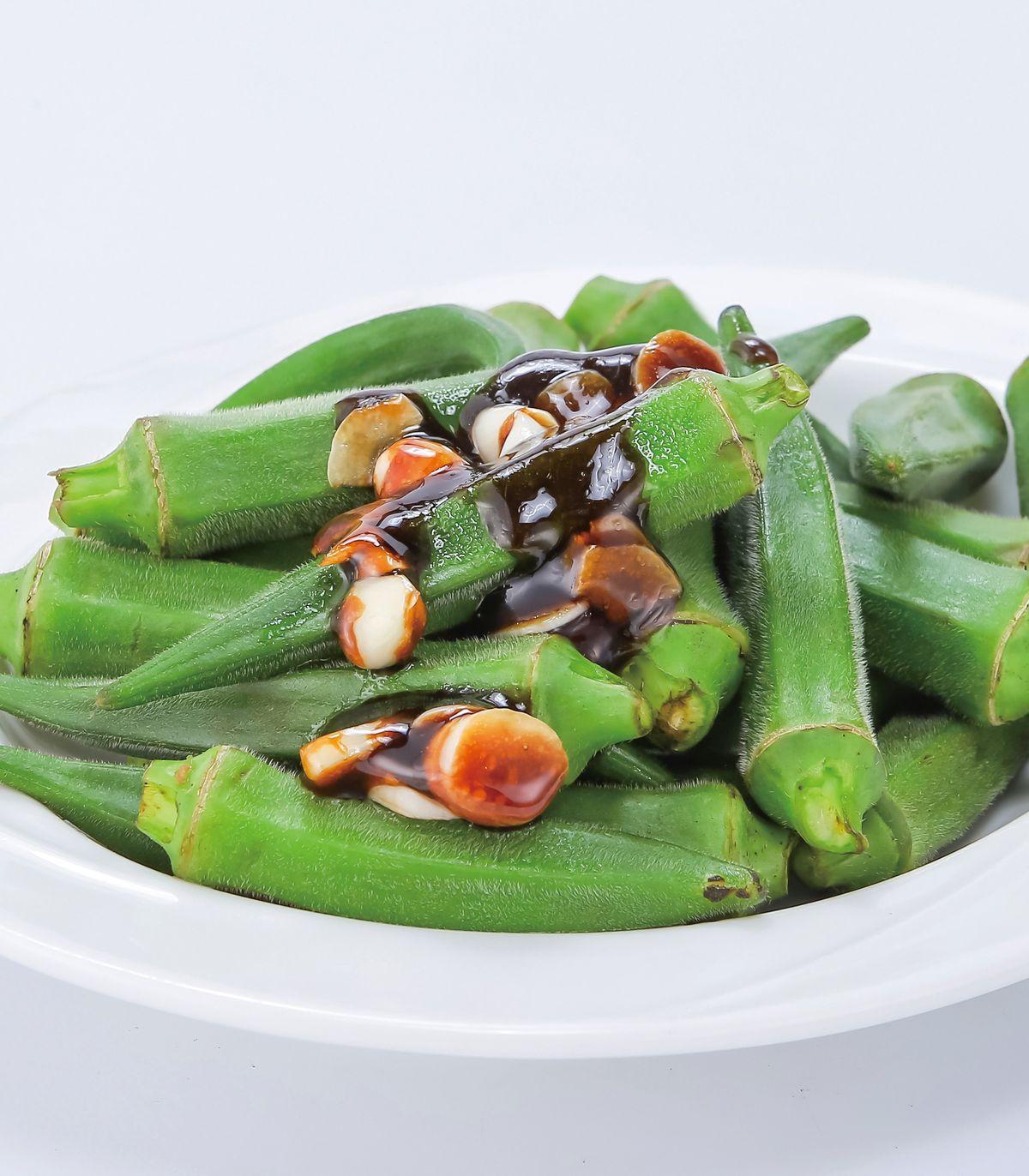 食譜:蒜味秋葵(1)