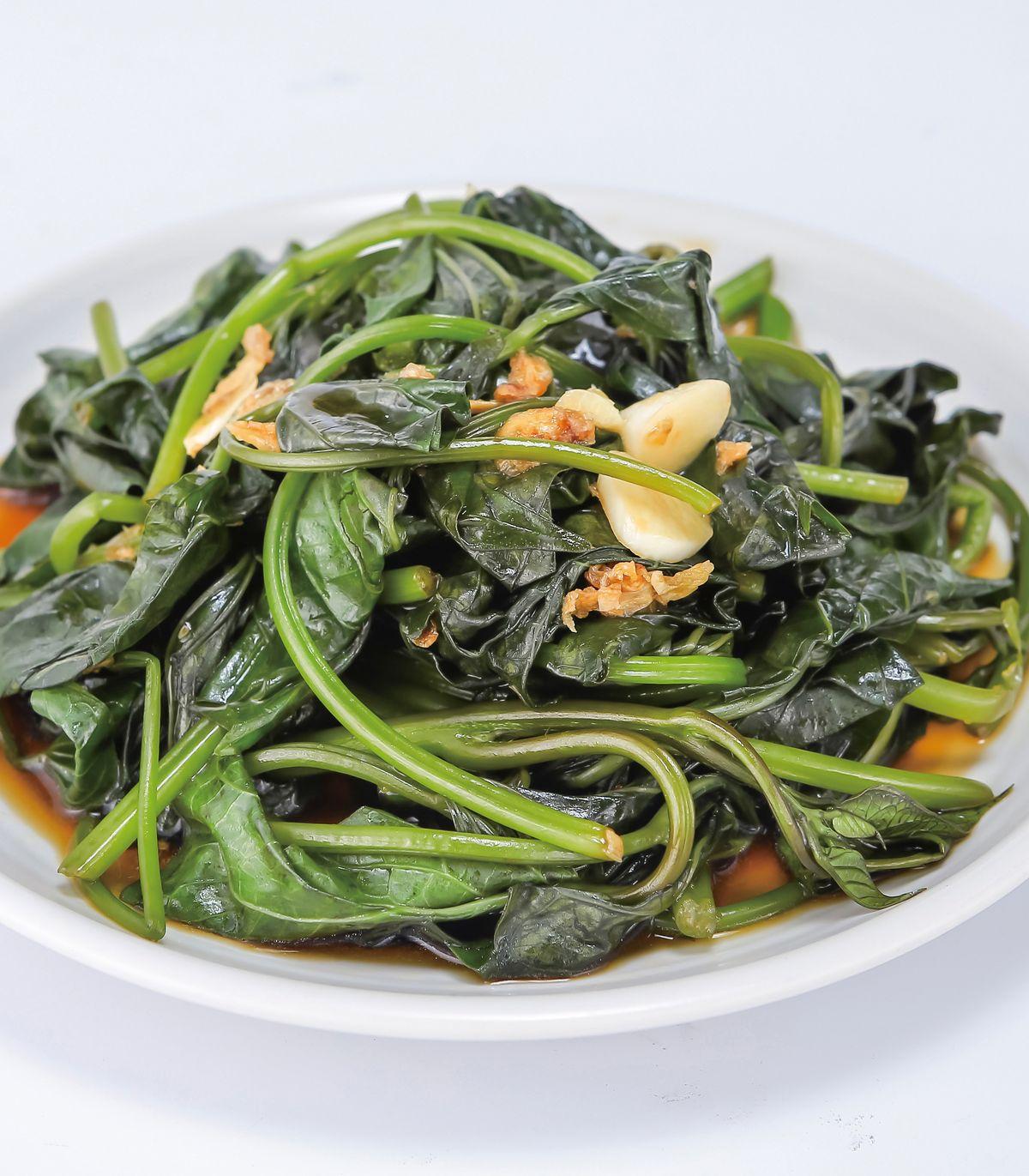 食譜:蒜香地瓜葉(1)