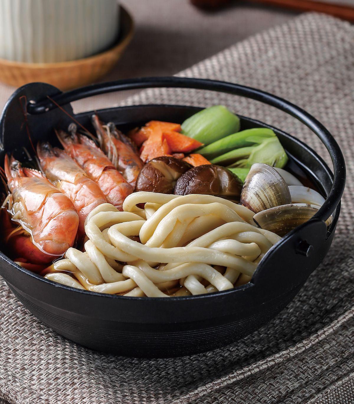 食譜:海鮮烏龍湯麵
