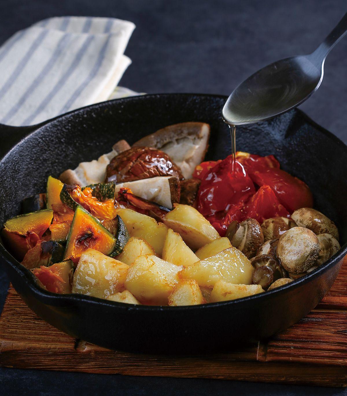 食譜:什錦鮮蔬烤馬鈴薯