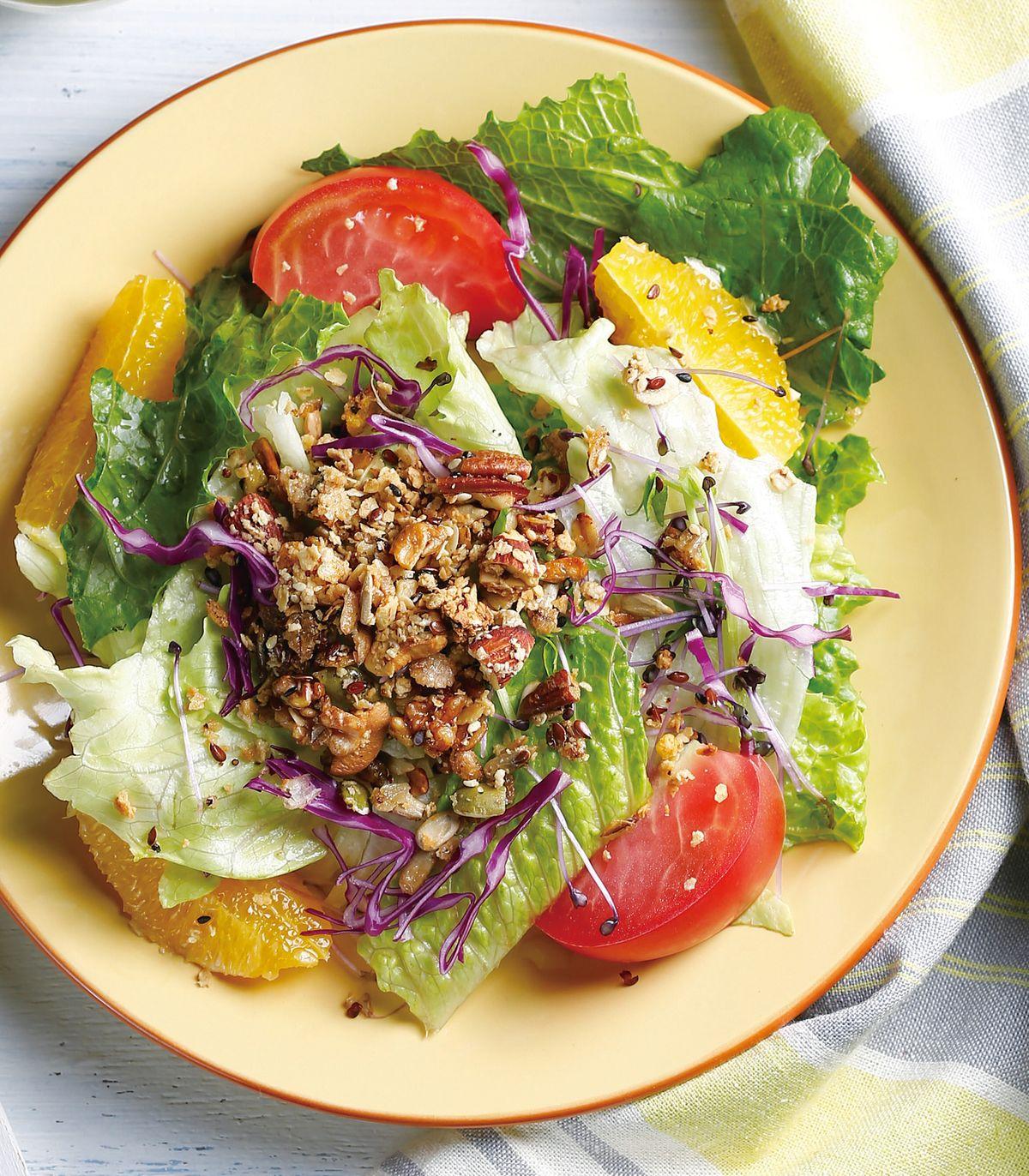 食譜:燕麥脆片蔬果沙拉