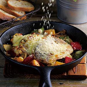 焗烤時蔬魚排