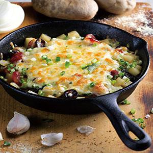 芝士焗臘腸洋芋