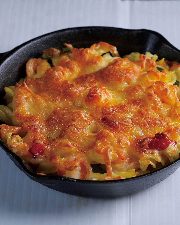 食譜:奶油蝦仁焗義麵