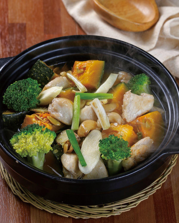 食譜:腰果滷南瓜鮮蔬