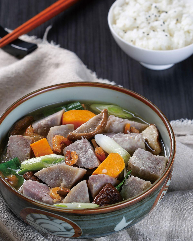 食譜:鮮菇蝦米滷芋頭