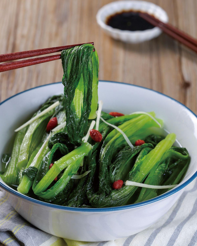 食譜:雞湯滷小芥菜